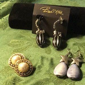 Pierced earrings.